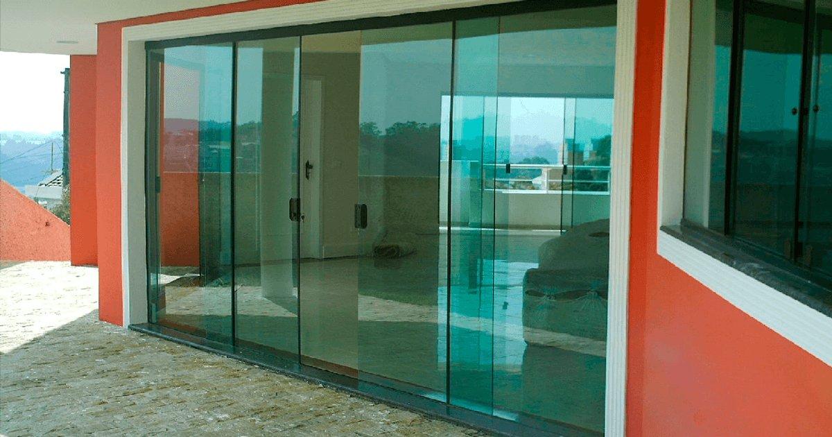 Porta de vidro pre o curitiba porta de vidro de correr for Porta 4 folhas de vidro temperado